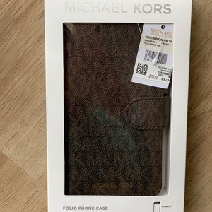 MK Mikael Kors iPhone X Folio